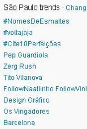 Trending Topics em SP às 12h07 (Foto: Reprodução)