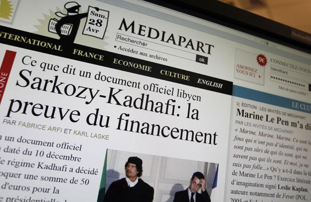 Página do Mediapart traz a denúncia (Foto: AFP)