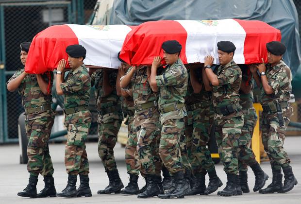 Peru; policiais; mortos; confrontos; Peru (Foto: Karel Navarro/ AP Photo)