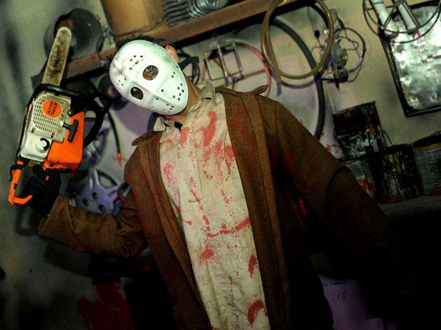 Jason é um dos personagens das Noites do Terror (Foto: Flavio Moraes/G1)