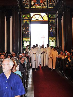 Missa foi realizada na Catedral Metropolitana de Campinas  (Foto: Divulgação Arquidiocese/Bárbara Beraquet)