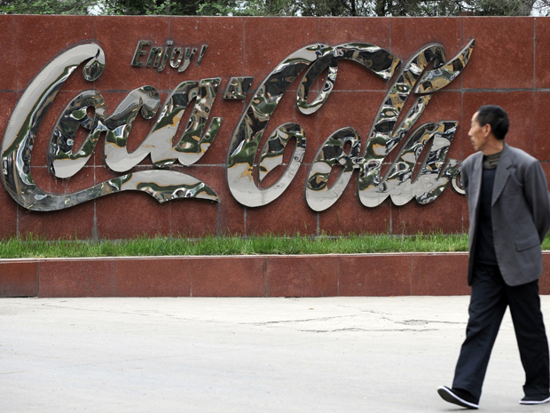 Fábrica da Coca-Cola na China (Foto: Reuters)