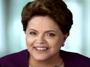 A presidente Dilma Rousseff durante pronunciamento do 1º de Maio (Foto: Reprodução)