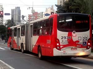 Ônibus que faz a linha no terminal incluído no projeto (Foto: G1 Campinas/Bruno Teixeira)