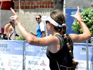 Cibelle garantiu o 5º lugar na Copa Pan-Americana de Triatlon (Foto: Arquivo Pessoal)