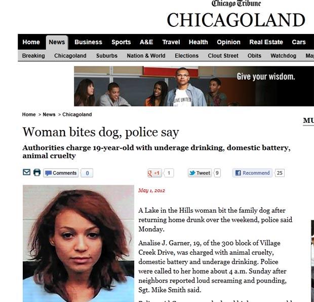 Analise Garner é acusada de morder seu cão de estimação. (Foto: Reprodução)