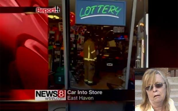 Sharon Brooks invadiu loja de bebidas com carro. (Foto: Reprodução)