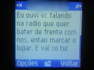 Mensagem chegou no celular da PM após comandante participar de programa de rádio (Foto: Roberto Lira Notícias/ Divulgação)