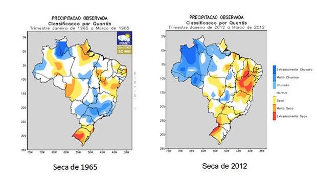 Comparação da seca na Bahia em 1965 e em 2012 (Foto: Divulgação/Comite da Seca na Bahia) (Foto: Divulgação/Comite da Seca na Bahia)
