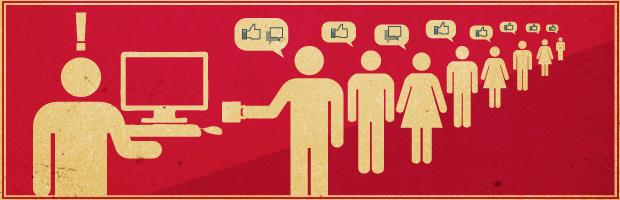 Arte sobre ser amigo de chefe e colegas de trabalho no Facebook (Foto: Arte/G1)