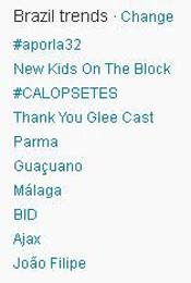 Trending Topics no Brasil às 17h08 (Foto: Reprodução)