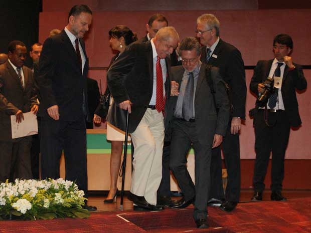 O ex-presidente Lula, durante seminário no BNDES (Foto: Tasso Marcelo/Agência Estado)