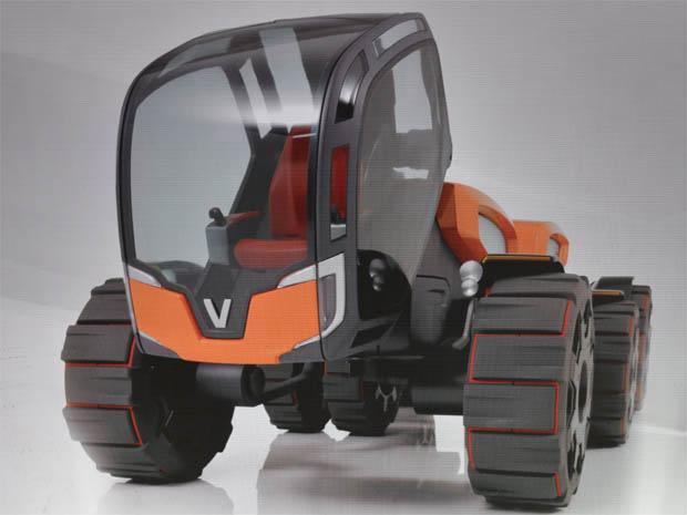 ANTS, conceito de máquina agrícola da Valtra que possui três môdulos e só um operador   (Foto: Clayton Castelani/ G1)