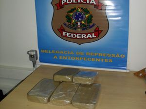 Pol&#237;cia Federal apreende 62 kg de maconha na BR-101 em Est&#226;ncia (SE) (Foto: Divulga&#231;&#227;o/PF)