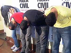 Suspeitos de arrombar caixas eletrônicos são presos (Foto: Reprodução/TV Integração)