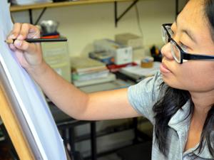 Adriana Yumi começou a criar os mangás educativos em 2009 (Foto: Fernando Bertolini/G1)