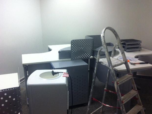 Sala onde ficarão os documentos sigilosos da CPI do Cachoeira (Foto: Nathalia Passarinho / G1)