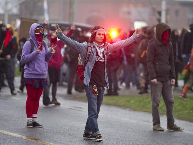170.000 estudantes protestam contra o aumento de 75% em cinco anos das taxas das universidades (Foto: AFP / Rogério Barbosa)