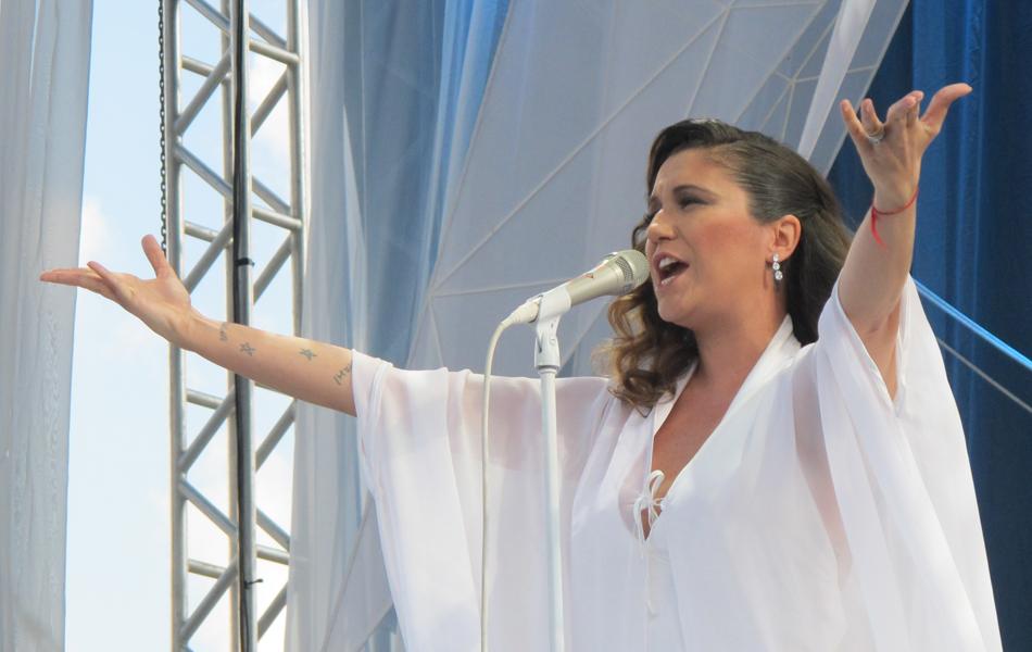Maria Rita canta no Parque da Juventude em São Paulo (Foto: Braulio Lorentz/G1)