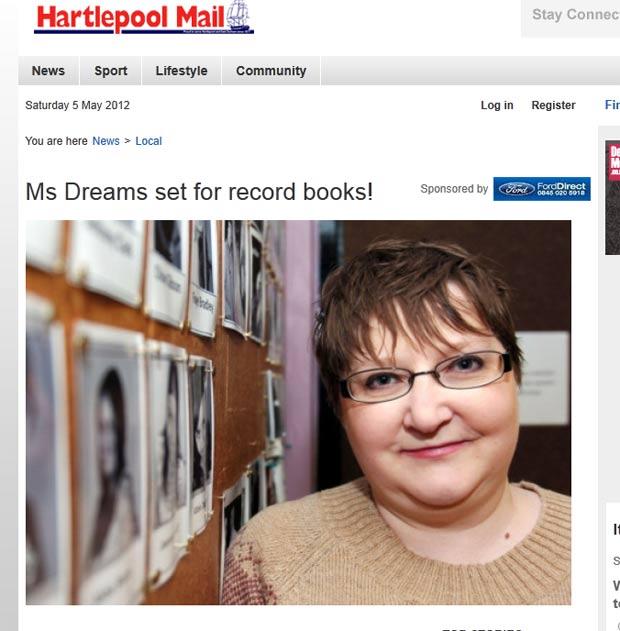 Mulher de Hartlepool adotou o nome mais longo do mundo, com 161 palavras. (Foto: Reprodução)