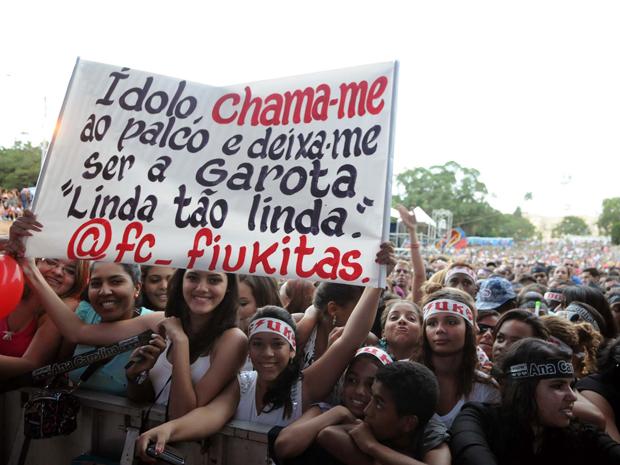 Fãs do cantor Fiuk se concentram para show do Viradão na Quinta da Boa Vista (Foto: Alexandre Durão / G1 RJ)