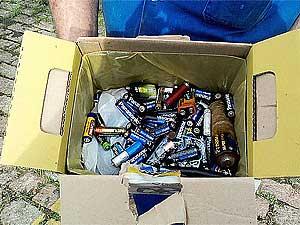 Padronização da coleta de pilhas de baterias (Foto: Divulgação Prefeitura de Campinas)