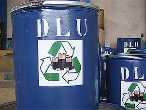 Tambor da coleta seletiva de pilhas e baterias em Campinas (Foto: Divulgação Prefeitura de Campinas)