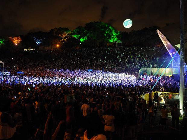 Viradão Carioca 2012 tem público total de 300 mil pessoas nos três dias (Foto: Alexandre Durão / G1 RJ)
