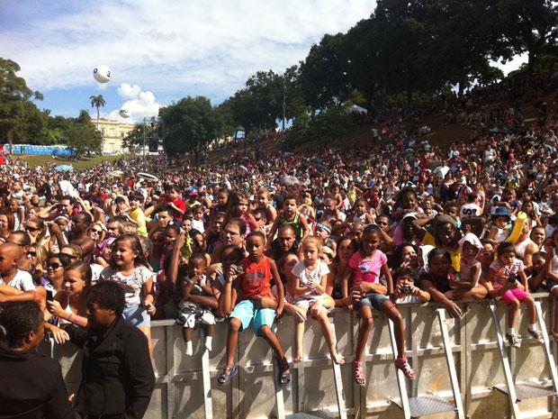 Público lota a Quinta da Boa Vista no último dia do Viradão Carioca (Foto: Janaína Carvalho/G1)