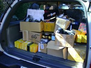 Materiais foram apreendidos e levados à Polícia Federal de Bauru (Foto: Alan Schneider/G1 TV Tem Bauru)
