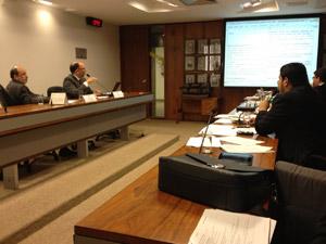 Reunião da comissão de juristas no Senado (Foto: Mariana Zoccoli / G1)