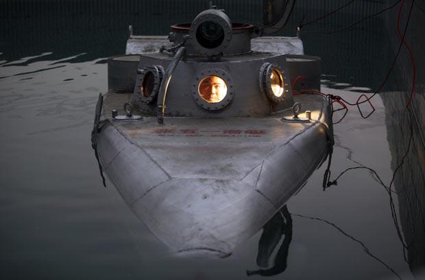 Zhang Wuyi, de 37 anos, já construiu seis submarinos. (Foto: Reuters)
