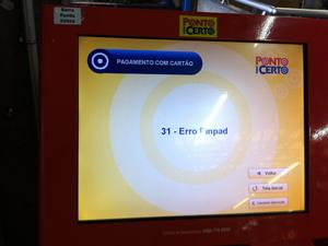 Erro em equipamento na Estação Palmeiras- Barra Funda (Foto: Márcio Pinho/G1)