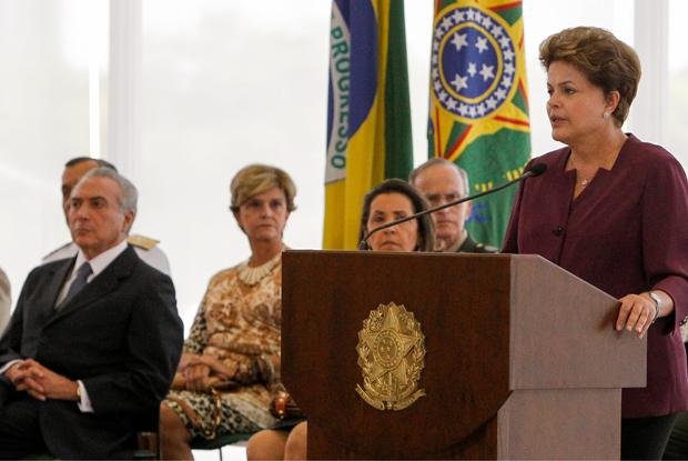 A presidente Dilma Rousseff, durante cerimônia de promoção de oficiais-generais, no Palácio do Planalto (Foto: Roberto Stuckert Filho/PR)