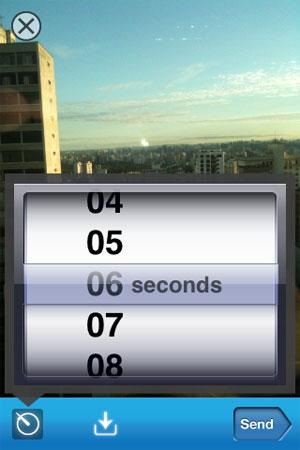 Aplicativo apaga fotos automaticamente após um determinado tempo (Foto: Reprodução)