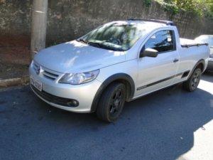 Carro furtado pelos jovens, que foram encontrado pela GM em Santa Bárbara (Foto: Divulgação/ Guarda Municipal)