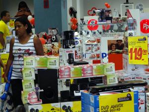 Eletroeletrônicos puxam vendas de dia das mães. (Foto: Katherine Coutinho / G1)