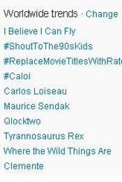 Trending Topics no Mundo, 12h10 (Foto: Reprodução)