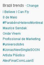 Trending Topics no Brasil às 12h02 (Foto: Reprodução)
