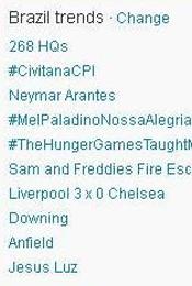 Trending Topics no Brasil às 17h03 (Foto: Reprodução)