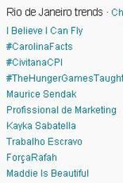 Trending Topics no Rio às 17h07 (Foto: Reprodução)