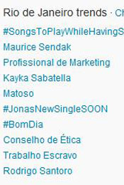 Trending Topics no Rio às 12h03 (Foto: Reprodução)