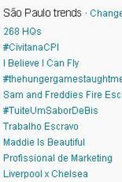 Trending Topics em SP às 17h13 (Foto: Reprodução)