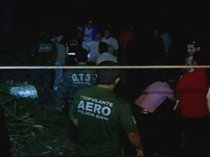 Queda de helicóptero da Polícia Civil de Goiás (Foto: Reprodução/TV Anhanguera)