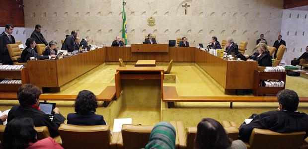 Plenário do Supremo durante julgamento das cotas nesta quarta (9) (Foto: Carlos Humberto / SCO / STF)