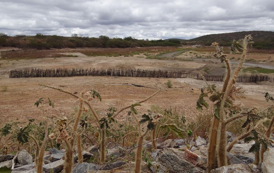 Barragem Contendas, construída com verba do Ministério da Integração, abastecia povoados de Jutaí e São Mateus. Porém, desde janeiro, o reservatório está completamente seco.