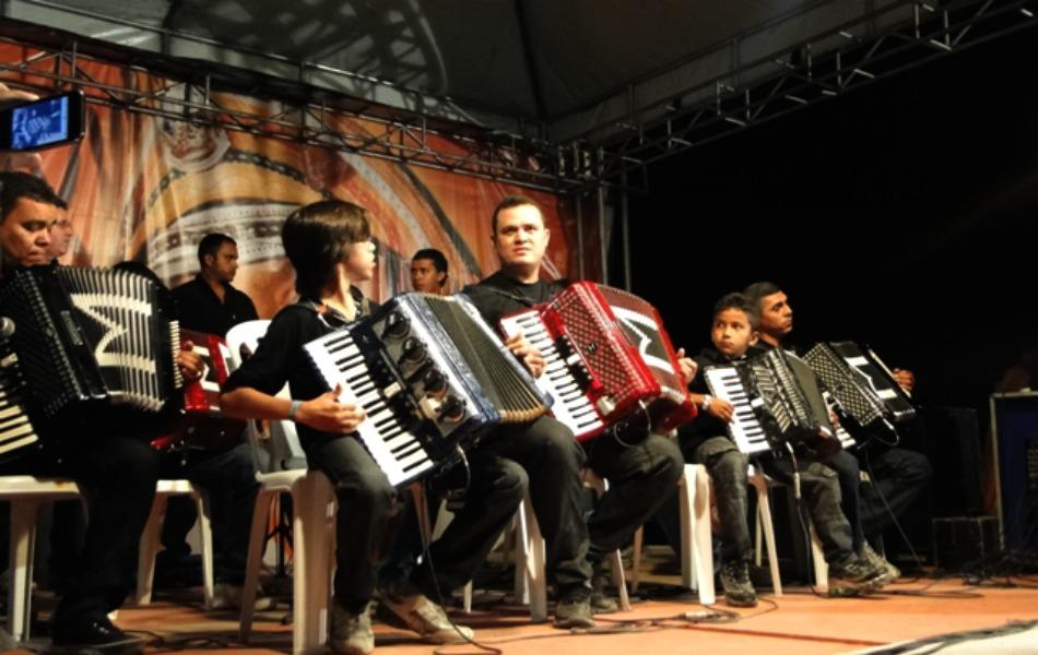 Orquestra Sanfonal foi uma das atrações.