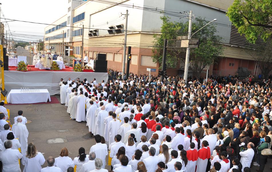 Missa que faz parte das celebrações de Corpus Christi em Campo Grande, Mato Grosso do Sul