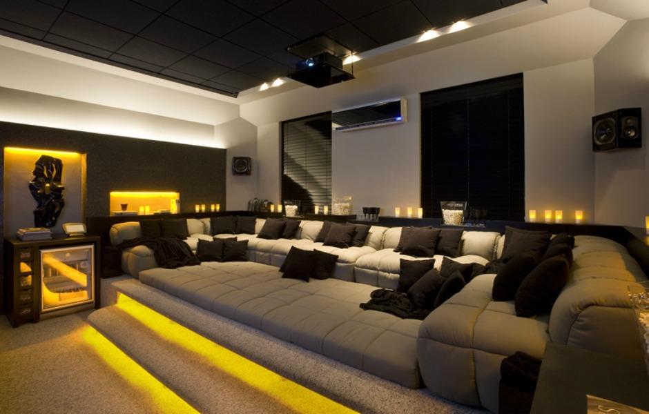 Sala De Tv Tipo Cinema ~ Projetos de home theater unem conforto e automatização  fotos em