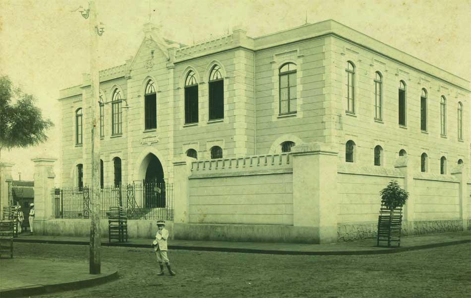 Prédio do Fórum e Cadeia de Ribeirão Preto construído em 1904